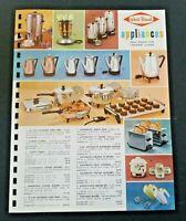 Vintage WEST BEND Appliances 1962 Pages from Manar Sales Catalog