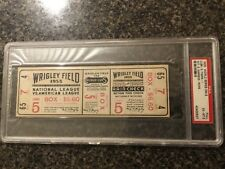 PSA 6 Full Unused 1935 World Series Ticket Chicago Cubs Detroit Tigers G5