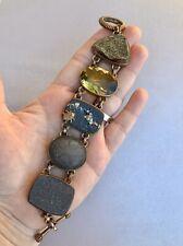 """Stephen Dweck OOAK Bronze Multistone  7.5"""" Bracelet  94.8 g"""