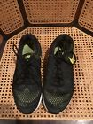 Nike Mens Air Zoom Pegasus 31 Black/GreenRunning Shoes Lace Up Size 11 Very Nice