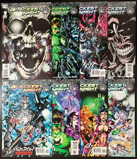 Blackest Night #1-8 (2009, DC) 2 3 4 5 6 7 Complete Set 1st White Lantern Corps