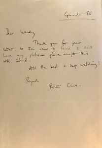 PATTI CLARE (CORONATION STREET) Hand written letter.
