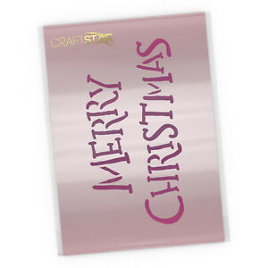 Merry Christmas Stencil - Hand Drawn Style - A4 Size Craft Template