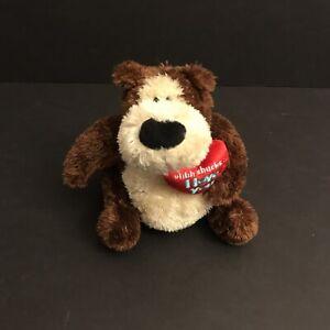 "Gund Bear Love you Goober Beanbag Plush ""ahhh shucks... I Love You"" Heart 14272"