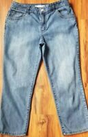 "Chico's Platinum Denim ~ Women's Size 1 ~ Denim Jeans ~ 23"" Long ~ Jewel Pocket"