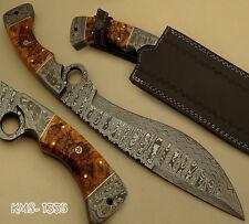 SUPERB HAND MADE DAMASCUS STEEL HUNTING KNIFE / BOWIE KNIFE / KUKRI FINGER KNIFE