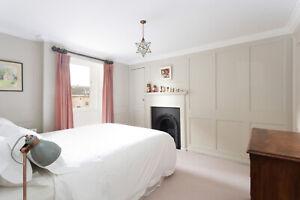 zip & link 2 small single / king bed inc. mattress, valance, duvets & 4 pillows