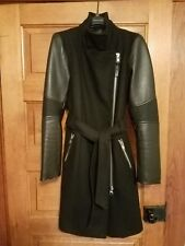 Mackage Leather & Wool Winter Jacket XS Nordstrom