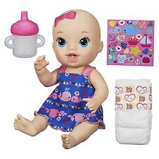 Baby Alive Sips n Cuddles Blonde Doll Whale Dress Ages 3+ New Toy Girls House