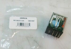OMRON MY4N-DC12(S) Plug In Relay, 14 Pins, Square, 12VDC NEW FREE FAST SHIPPING