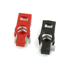 2Pcs Car Truck Battery Terminal Clamp Clip Connector With Cover Universal Adjust