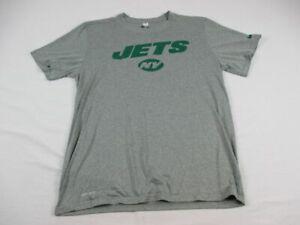 New York Jets Nike Short Sleeve Shirt Men's Gray Dri-Fit Used Multiple Sizes