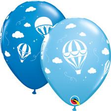 """5 Qualatex 11"""" Latex Balloons - Blue Hot Air Balloons"""