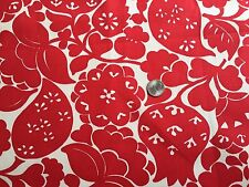 """e2 52"""" x 36"""" Fabric Red White Large Flower Fruit Heavy Cotton Canvas"""