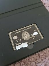 American Express Centurion Amex Black card authentic FREE SHIPPING