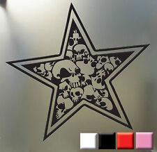 Star Skull Sticker Punk Goth Car Truck Window Decal Nautical skulls and Stars