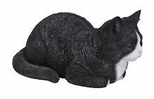 NOVELTY SHAPED CLOCK PET CAT ORNAMENT BLACK /& WHITE KITTEN PAL