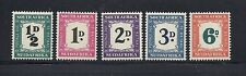 SOUTH AFRICA 1948-49 POSTAGE DUES Scott J34-38 MH