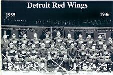 1935 1936 DETROIT RED WINGS 8X10 TEAM PHOTO HOCKEY NHL STANLEY CUP MICHIGAN HOF