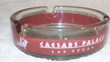 Caesars Palace Clear Glass Caesar On Lounge Eating Grapes Ashtray Las Vegas Nv