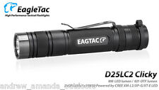 EagleTac D25LC2 Clicky CREE XM-L2 U2 LED Flashlight - 850 Lumens- Upgraded LED