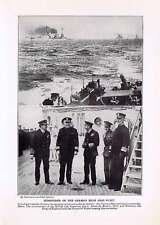 German High Seas Fleet Surrender WWI 1918 Historical Print