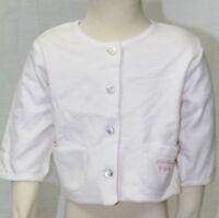 JACADI Girl/'s Bibelot Pink Thick Knit Collared Cardigan Sz 3 Months NWT $96