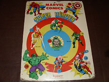 "Vintage Marvel Super Hero Transogram Dart Board Huge 25"" x 19"" Marvelmania 1976"