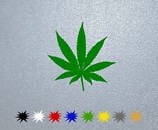 STICKER PEGATINA DECAL VINYL  Weed Cannabis Plant