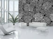 Wall Mural Photo Wallpaper Black and White Tropical Leaves GIANT WALL DECOR