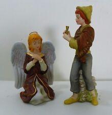 "Kinkade Hawthorne Village Nativity ""Angel of Prayer and Song of Praise Musician"""