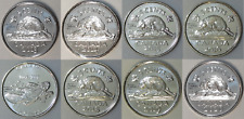 Lot of 2013 to 2020 Canada 5 Cents BU
