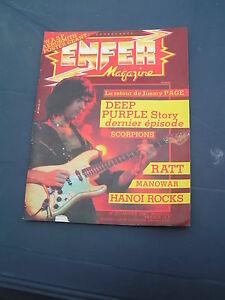 Enfer Magazine 20 1984 THE FIRM JIMMY PAGE DEEP PURPLE SCORPIONS MANOWAR METALLI