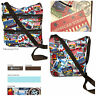 LeSportsac American Stamp Kylie Crossbody Bag Free Ship NWT USA Theme Stamps