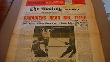 """The Hockey News"" April 2, 1966 ""Canadiens Near NHL Title"" Original 6"