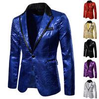 Luxury Men's Collared Neck Slim Fit Formal Jacket Suit Blazer Sweater Jacket Top