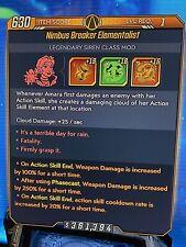 "XBOX Borderlands 3 LEVEL 1 MODDED Amara Mod ""Elementalist"" OVER 50 SKILL POINTS"