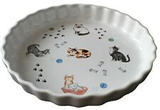 Cats Pattern 25cm Ceramic flan Quiche Dish