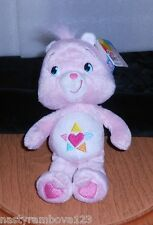 "CARE BEARS ""TRUE HEART BEAR"" PASTEL PINK, 9"" PLUSH ""2007"" DESIRABLE, NWT'S!"