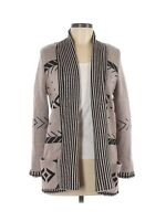 Pixley by Stitch Fix Women's Brown Open Front Duster Cardigan Sweater Size Small