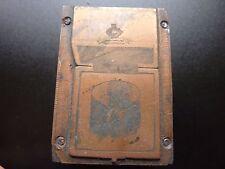 Bloque de impresión de Cobre Coleccionable Hermoso Antiguo Victoriano/Edwardian