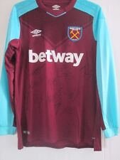 2017-2018 Squad Signed West Ham United Home Football Shirt /41971