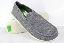 Sanuk Men's Vagabond Tripper Mesh Slip On Size 12 Charcoal