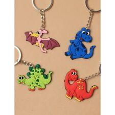Pack of 4 Dinosaur Design Keyrings Kids Party Bag Fillers Keychains
