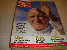 FRANCE SOIR MAGAZINE 12074 11.06.1983 JEAN PAUL II BOWIE GALABRU CAROLE LAURE