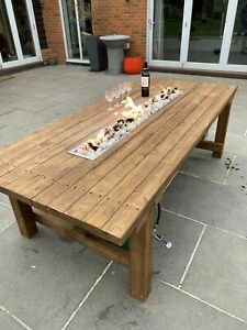 Handcrafted Garden Table Firepit / Patio Heater.