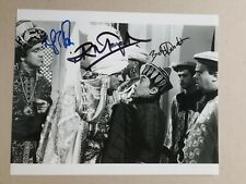 """RIK MAYALL + 2 signed 10""""x8"""" PHOTO with UACC RD C.O.A.  CARRY ON COLUMBUS"""