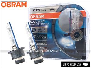 New! OSRAM D2S Cool Blue Advance HID Xenon Bulbs 66240CBA 6000K 35W Germany x2