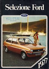 Brochure Depliant Ford Gamma 1977 Fiesta Escort Taunus Capri Granada ITA 16 pag
