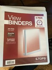 New Listingtops Round Ring View Binder Letter 85 X 11